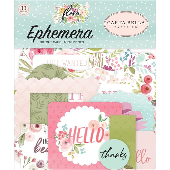 Die Cuts - Ephemera - Flora - Carta Bella