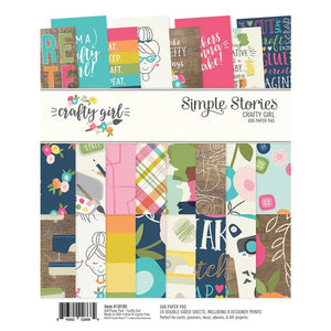 Pad de Papeles 6x8 - Hey Crafty Girl - Simple Stories