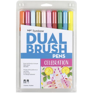 Tombow Dual Brush Celebration 10/pk