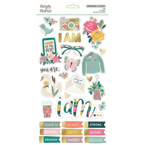 Chipboard Stickers - I AM