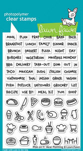 Lawn Fawn - Plan On It: Meal Planning - Sello