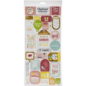 Chipboard Stickers - Frases - All Girl - Echo Park