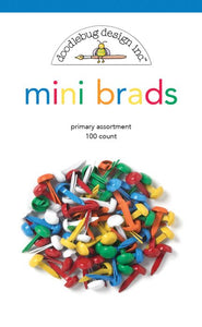 Mini Brads Primary - Doodlebug