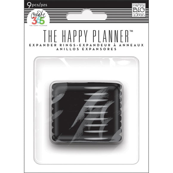 The Happy Planner - Discos Expansores - Black - 9 piezas de 1.75