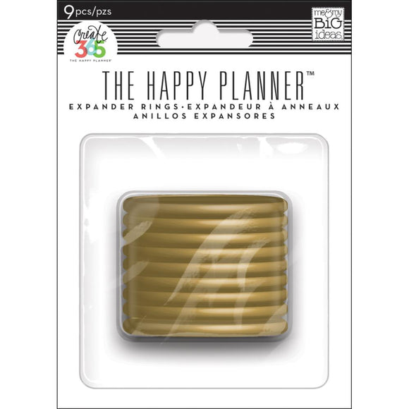 The Happy Planner - Discos Expansores - Gold - 9 piezas de 1.75