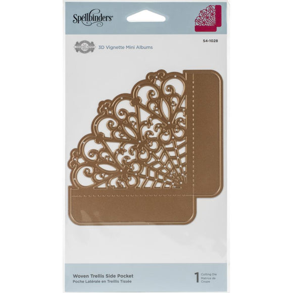Spellbinders Woven Trellis Side Pocket - Troquel