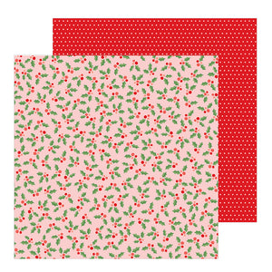 Papeles con Diseño 12 x 12 - Jolly Holly - Merry Little Christmas - Pebbles