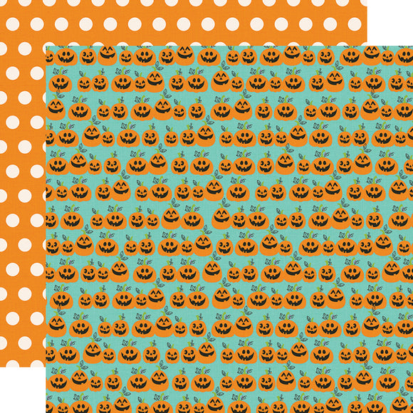 Papel con Diseño Doble Cara 12x12 - Hey Pumpkin - Say Cheese Halloween - Simple Stories