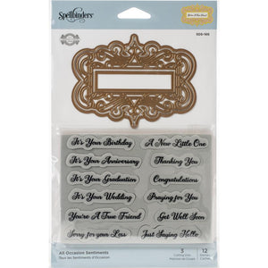 Spellbinders All Occasion Sentiments - Sello y Troquel
