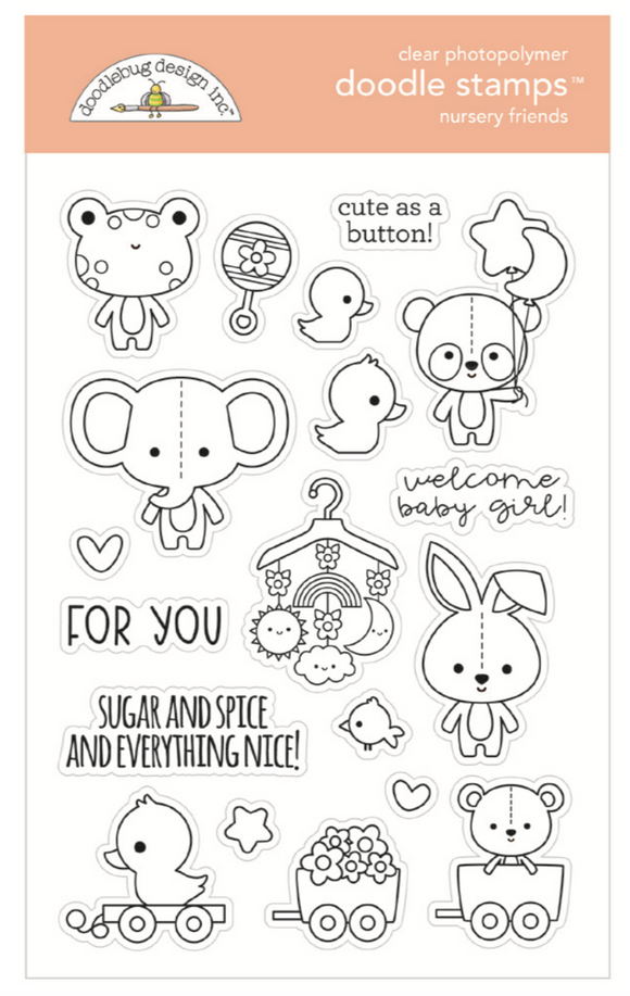 Sellos - Nursery Friends - Doodlebug