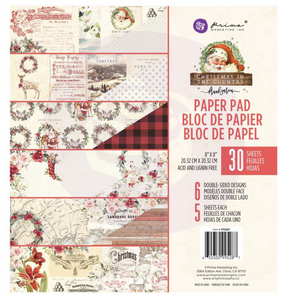 Pad de Papeles 8x8 - Christmas in the Country - Prima Marketing