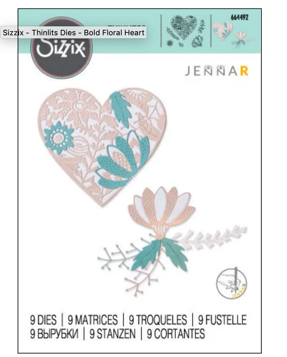 Sizzix Thinlits - Bold Floral Heart