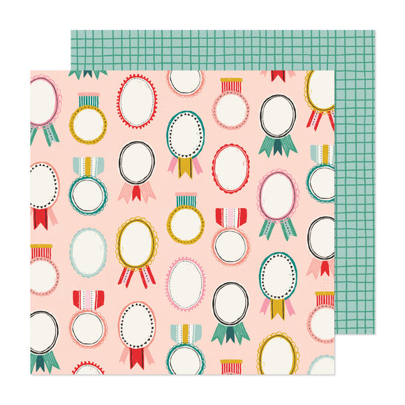 Papel con Diseño Doble Cara 12x12 - Marry & Bright - Hey Santa - Crate Paper