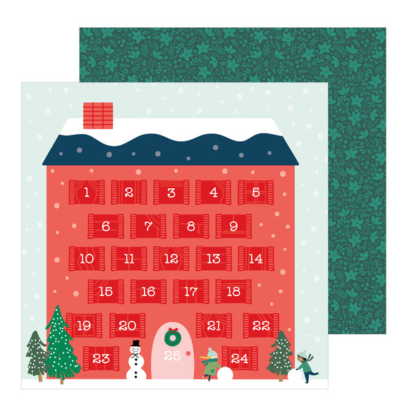 Papeles con Diseño 12 x 12 - Counting Down - Merry Little Christmas - Pebbles