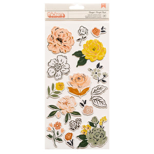 Foam & Cardstock Stickers - Fresh Bouquet - Crate Paper