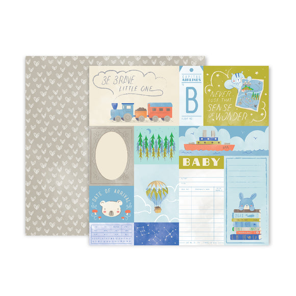 Papel 12 x 12 - #08 - Little Adventurer - Pink Paislee