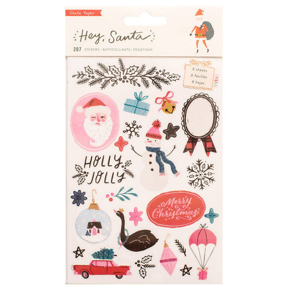 Libro de Stickers - Hey Santa - Crate Paper