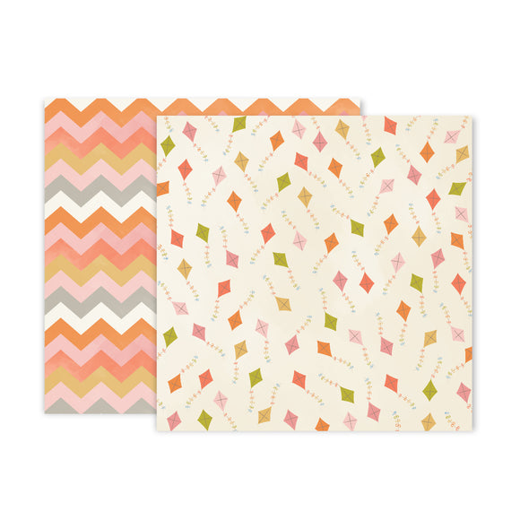 Papel 12 x 12 - #03 - Little Adventurer - Pink Paislee