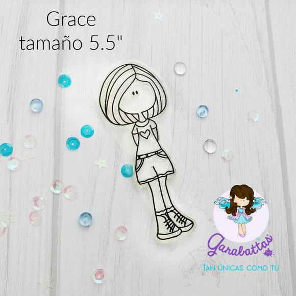 Sello Grace 5x5 - Garabattas