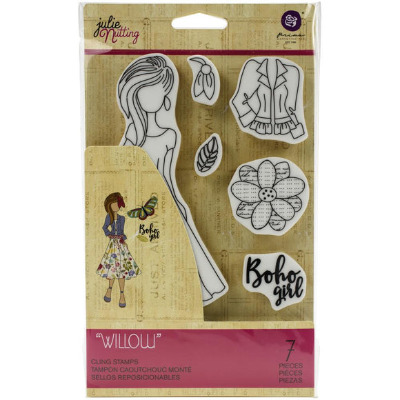 Prima Marketing Julie Nutting Rubber Cling Stamp - Willow - Sello