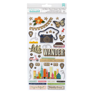 Stickers Chipboard - Let's Wander - Vicki Boutin