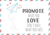 Kaart: Promote what you love!