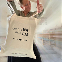 Love over Fear tas - 100% biologisch katoen