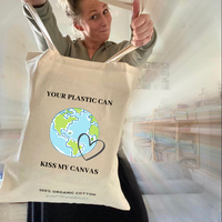 Your plastic can kiss Tas - 100% biologisch katoen