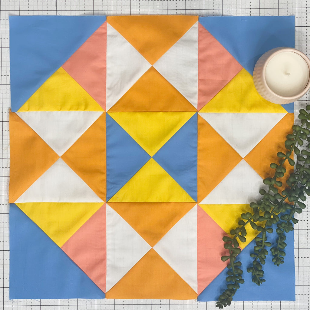 Quilt Camp 2021, Quilt Camp, Quilt along, Sew Along, quarter square triangles, quilting tutorials, quilt pattern, sample pattern