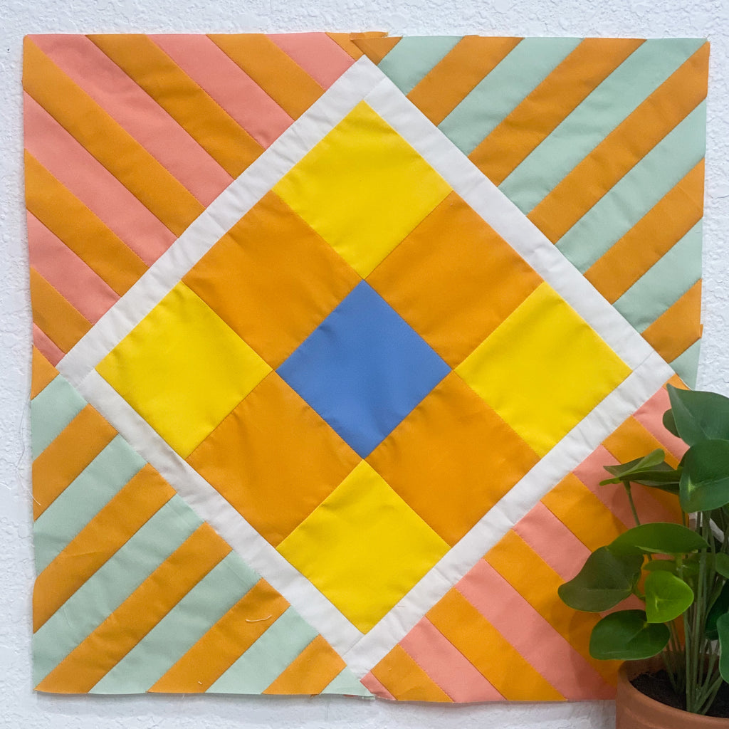 Quilt camp, quilt camp cal, quilt along, sew along, square in a square, quilt block, quilt tutorial
