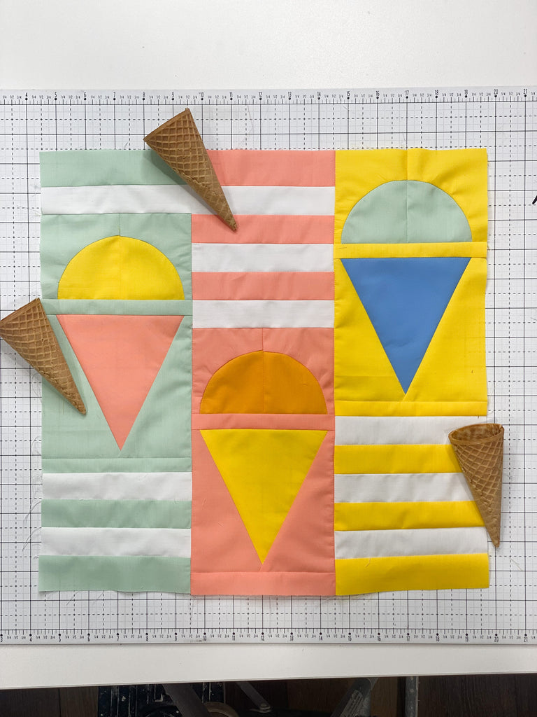 Quilt Camp, Snack Time Block, Quilt Camp QAL, quilt along, sew along, sampler quilt, sewing curves, sewing tutorial, quilting tutorial
