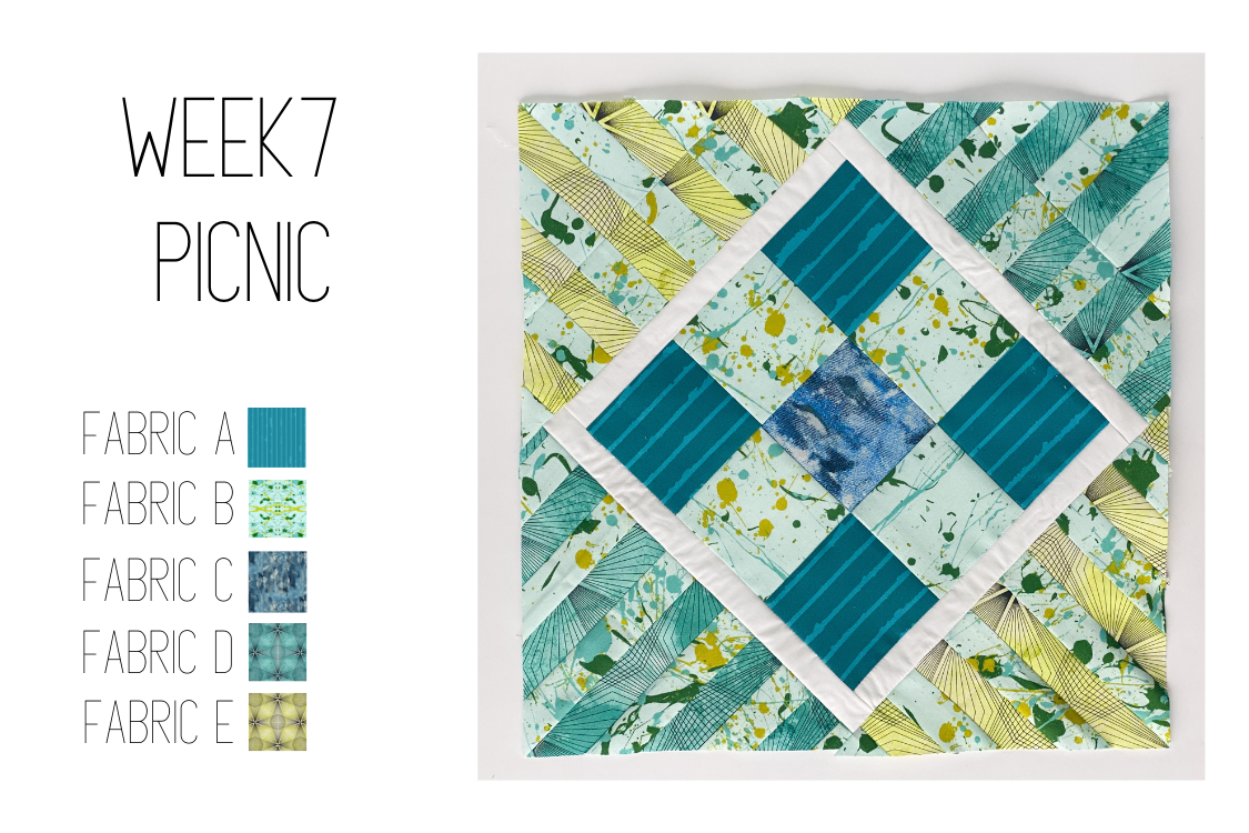 square in a square, strip piecing, quilt block, quilt along