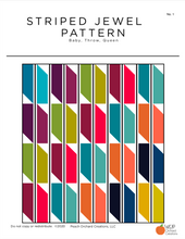 Load image into Gallery viewer, Striped Jewel PDF Quilt Pattern - Digital Download