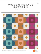 Load image into Gallery viewer, Woven Petals PDF Quilt Pattern - Digital Download