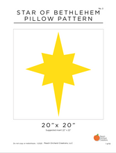 Load image into Gallery viewer, Star of Bethlehem Pillow Pattern - Digital Download