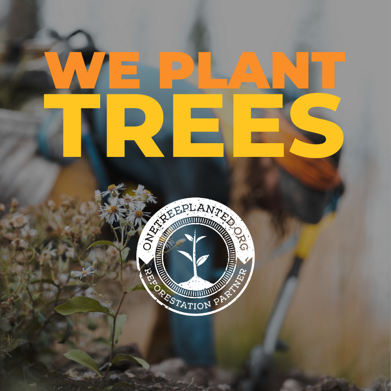 We are very proud to announce that we've partnered with One Tree Planted!