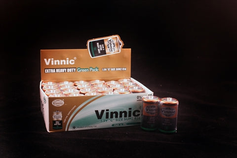 Vinnic Extra Heavy Duty C Batteries - 24 Count Box SP2