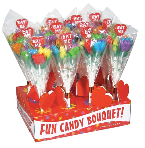Eat Me! Tulip Candy Bouquet - 12 Piece Display CP-609