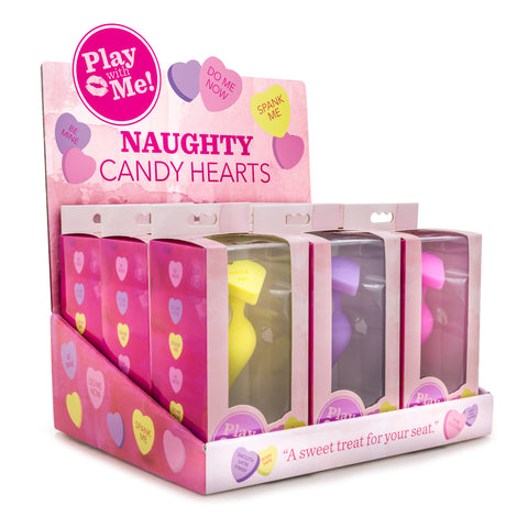 Naughty Candy Hearts Display - 9 Pieces - Assorted Colors BL-99994