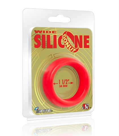 Wide Silicone Donut - Red - 1.5-Inch Diameter SI-95141