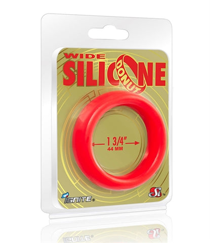 Wide Silicone Donut - Red - 1.75-Inch Diameter SI-95140
