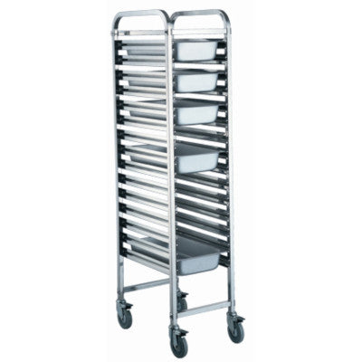 Stainless Steel 1/1 GN Single Trolley, High With Platform