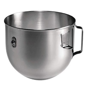 KitchenAid 4.8ltr Polished Stainless Steel Bowl with Flat Handle