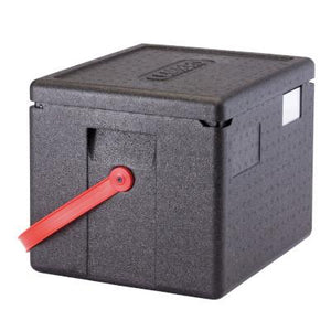 Cambro Cam GoBox EPP280 Insulated Food Pan Carrier With Red Strap, Top Loader For GN 1/2 Pan