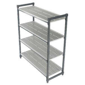 "Cambro Camshelving Element 4-Shelf Starter Units, Vented Shelves, Depth 21"", Tall 64"""