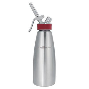 ISI Gourmet Whip Stainless Steel Espuma Bottle, Red, Hot & Cold Use