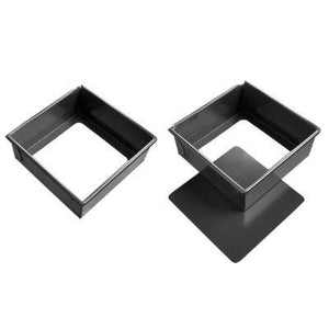 San Neng Hard Anodized Aluminium Square Cake Pan, Removable Base