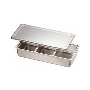 Stainless Steel 3 Compartment Condiment Container