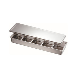 Stainless Steel 5 Compartment Condiment Container