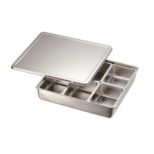 Stainless Steel 6 Compartment Condiment Container